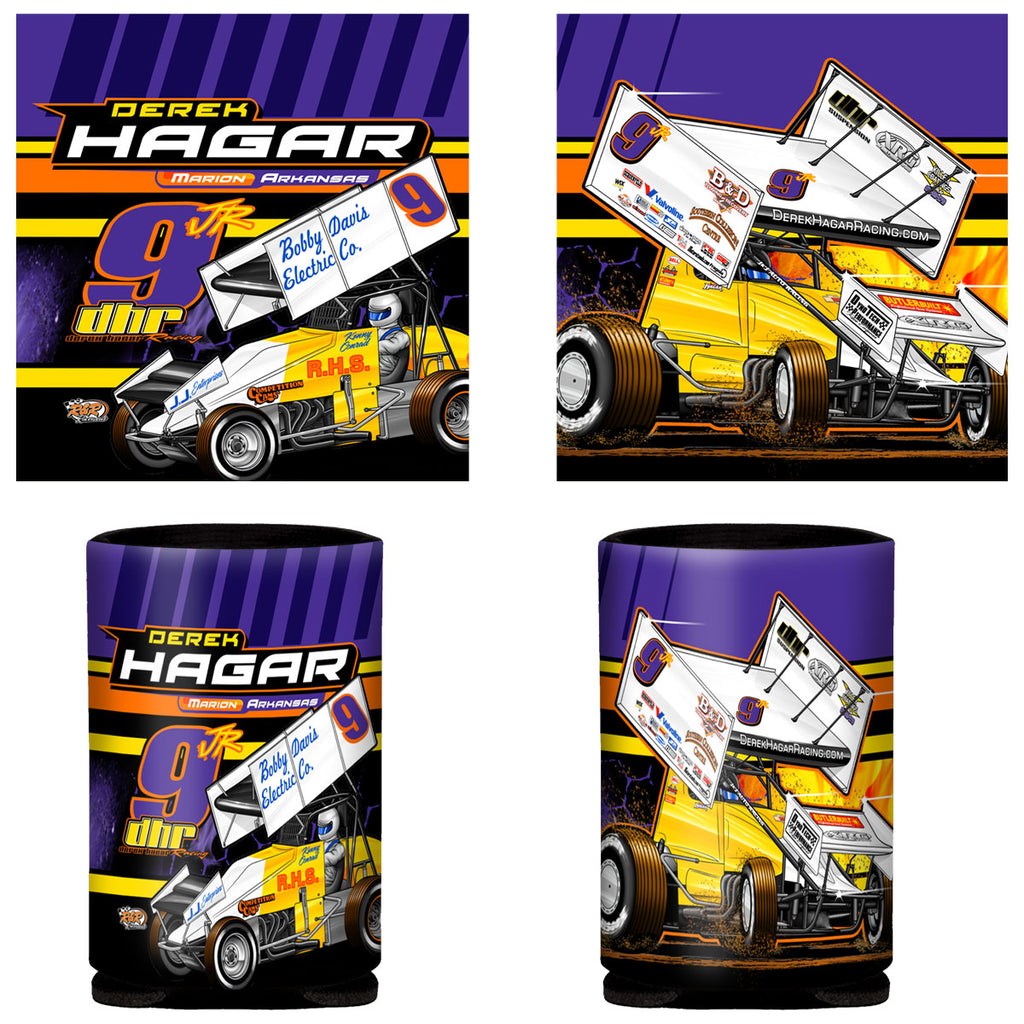 "Derek Hagar ""Tradition of Speed"" Can Coozie"