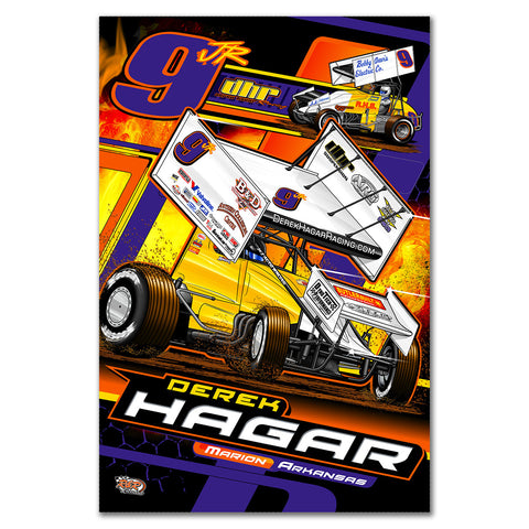 "Derek Hagar ""Tradition of Speed"" Poster"