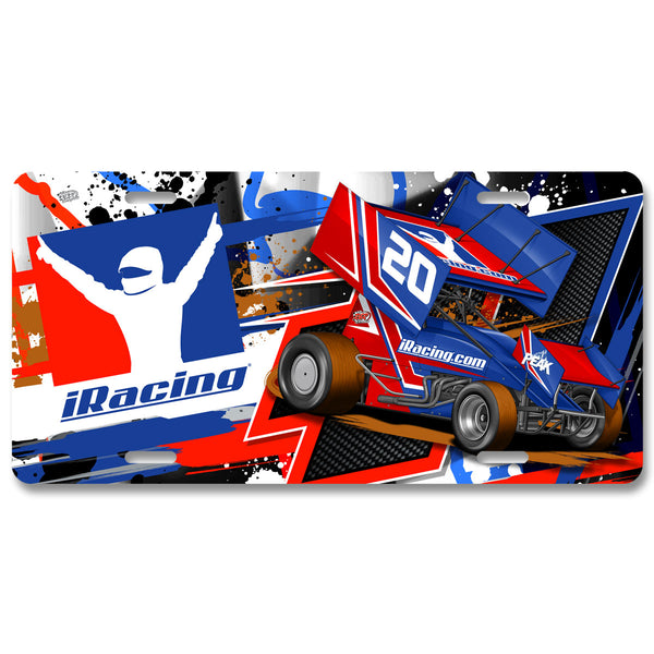 "iRacing ""Dirt"" License Plate"