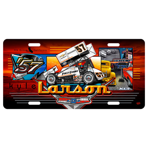 "Kyle Larson ""'57 Chevy"" License Plate"