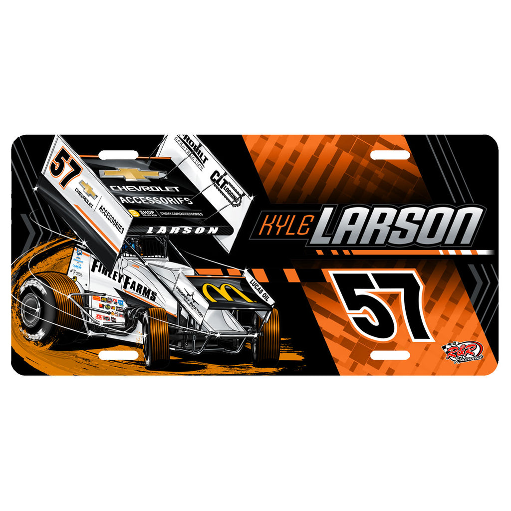 "Kyle Larson ""Anomaly"" License Plate"