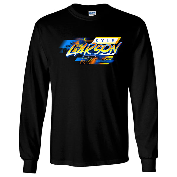 Kyle Larson Sprintcar Katelyn Sweet NASCAR Black Long Sleeve t-shirt