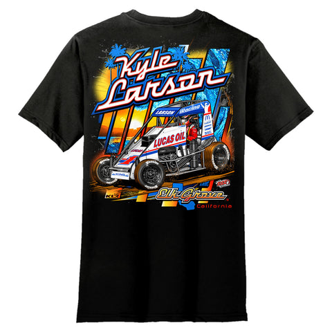 Kyle Larson Kin Chassis midget turkey night black shirt