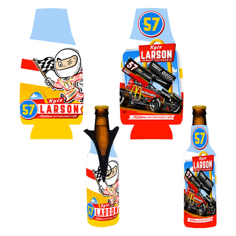 "Kyle Larson ""Comin' In Hot"" Bottle Coozie"