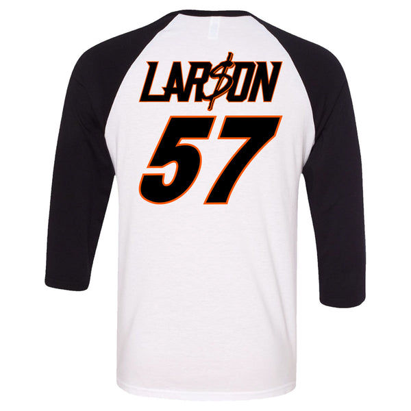"Kyle Larson ""Throwing Sliders"" Baseball T-Shirt"