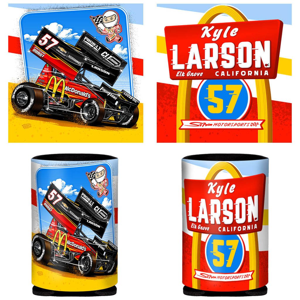 "Kyle Larson ""Comin' In Hot"" Can Coozie"