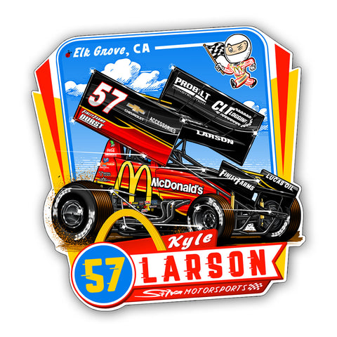 "Kyle Larson ""Comin' In Hot"" Decal"