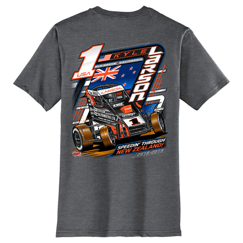 "Kyle Larson ""Speedin Through NZ"" T-Shirt"