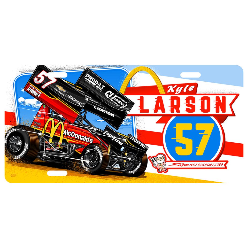"Kyle Larson ""Comin' In Hot"" License Plate"