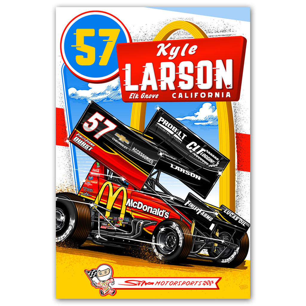 "Kyle Larson ""Comin' In Hot"" Poster"