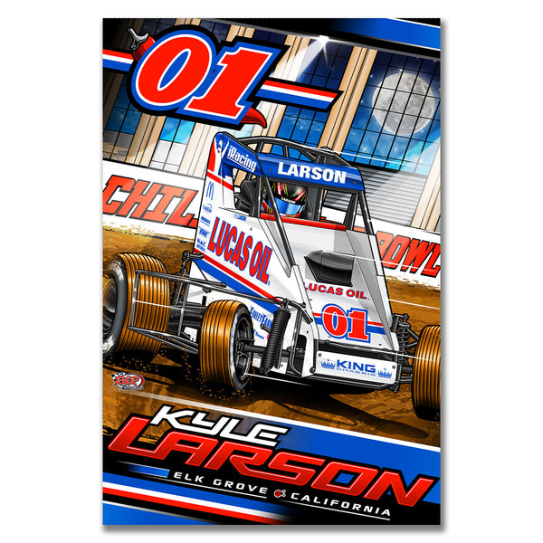 "Kyle Larson ""Drilling for Oil"" Poster"