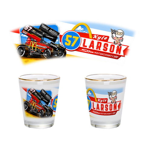 "Kyle Larson ""Comin' In Hot"" Shot Glass"