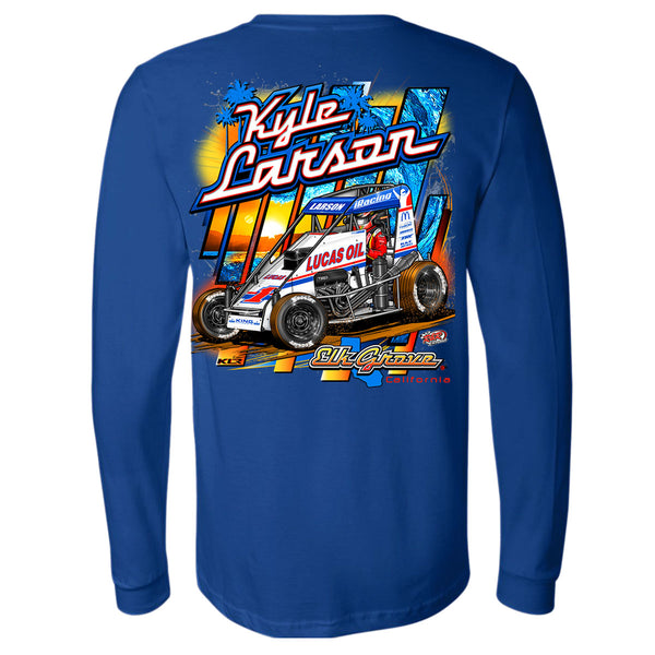 Kyle Larson Kin Chassis midget turkey night long sleeve shirt