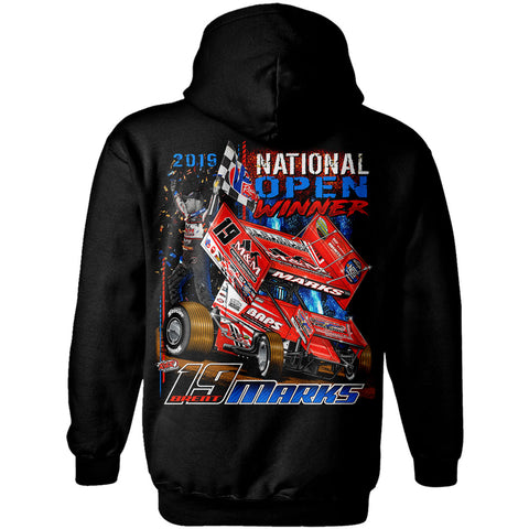 Brent Marks World of Outlaws Sprint Car National Open Winner Black Hoodie