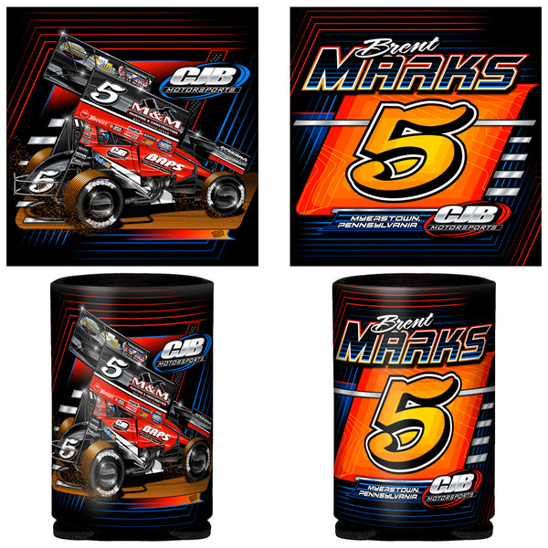 "Brent Marks ""Number Five"" Can Coozie"