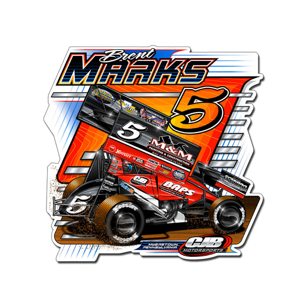 "Brent Marks ""Number Five"" Decal"