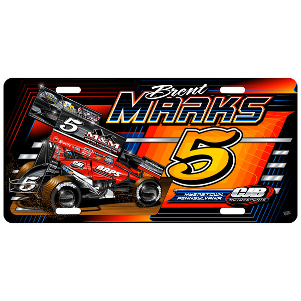 "Brent Marks ""Number Five"" License Plate"