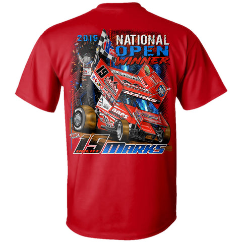 Brent Marks World of Outlaws Sprint Car National Open Winner Red T-Shirt