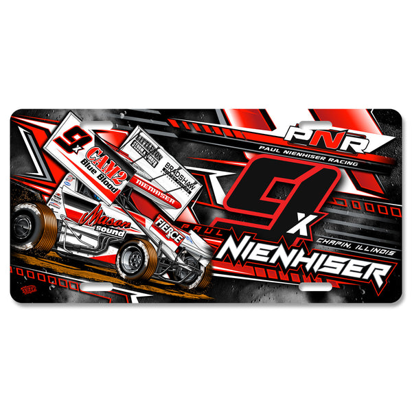 "Paul Nienhiser ""Time to Fly"" License Plate"