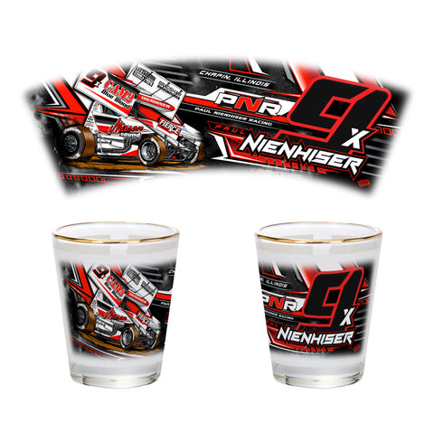 "Paul Nienhiser ""Time to Fly"" Shot Glass"