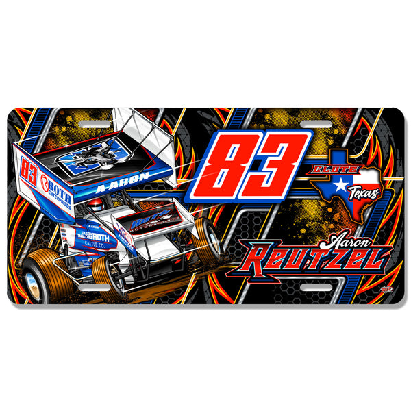 "Aaron Reutzel ""Outlaw"" License Plate"