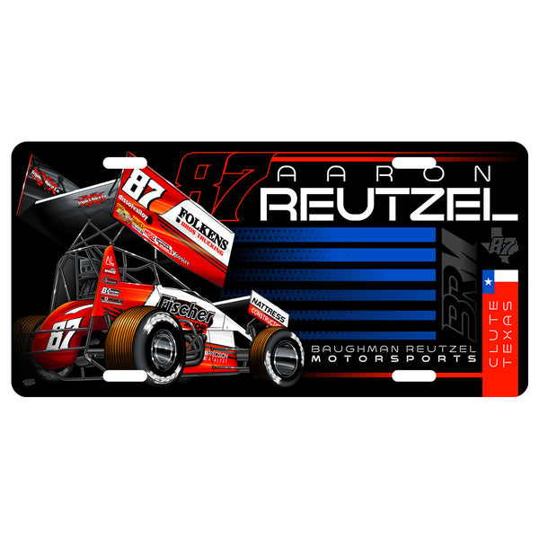 "Aaron Reutzel ""Established"" License Plate"