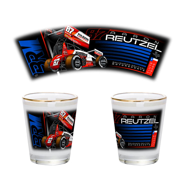 "Aaron Reutzel ""Established"" Shot Glass"