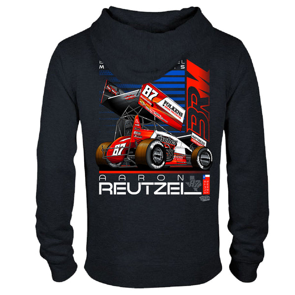 Aaron Reutzel Sprint Car Racing Hoodie Back