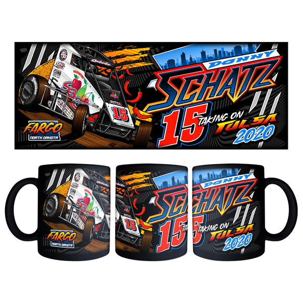 "Donny Schatz ""Taking on Tulsa 2020"" Black Mug"