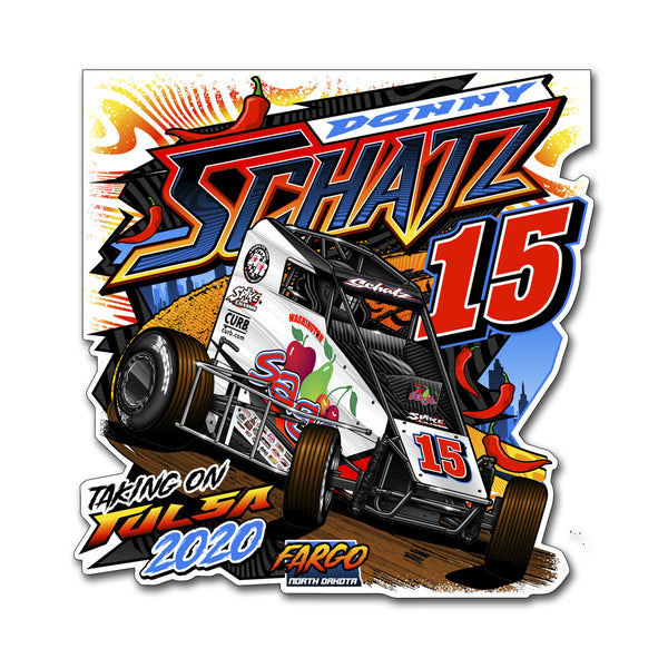 "Donny Schatz ""Taking on Tulsa 2020"" Decal"