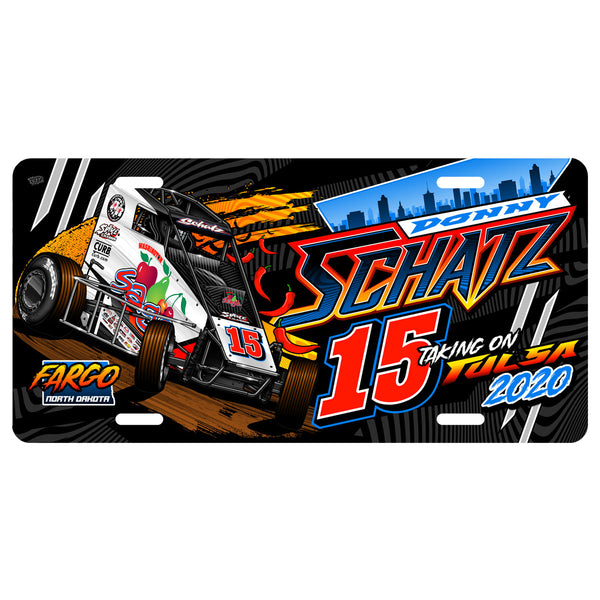 "Donny Schatz ""Taking on Tulsa 2020"" License Plate"