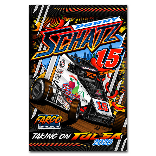 "Donny Schatz ""Taking on Tulsa 2020"" Poster"