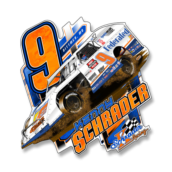 "Ken Schrader ""3 Wheelin'"" Decal"