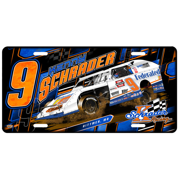 "Ken Schrader ""3 Wheelin'"" License Plate"
