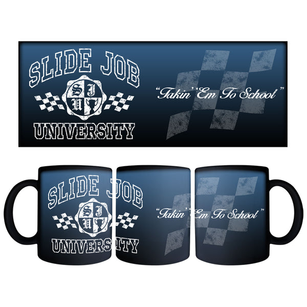 Slide Job University Black Mug