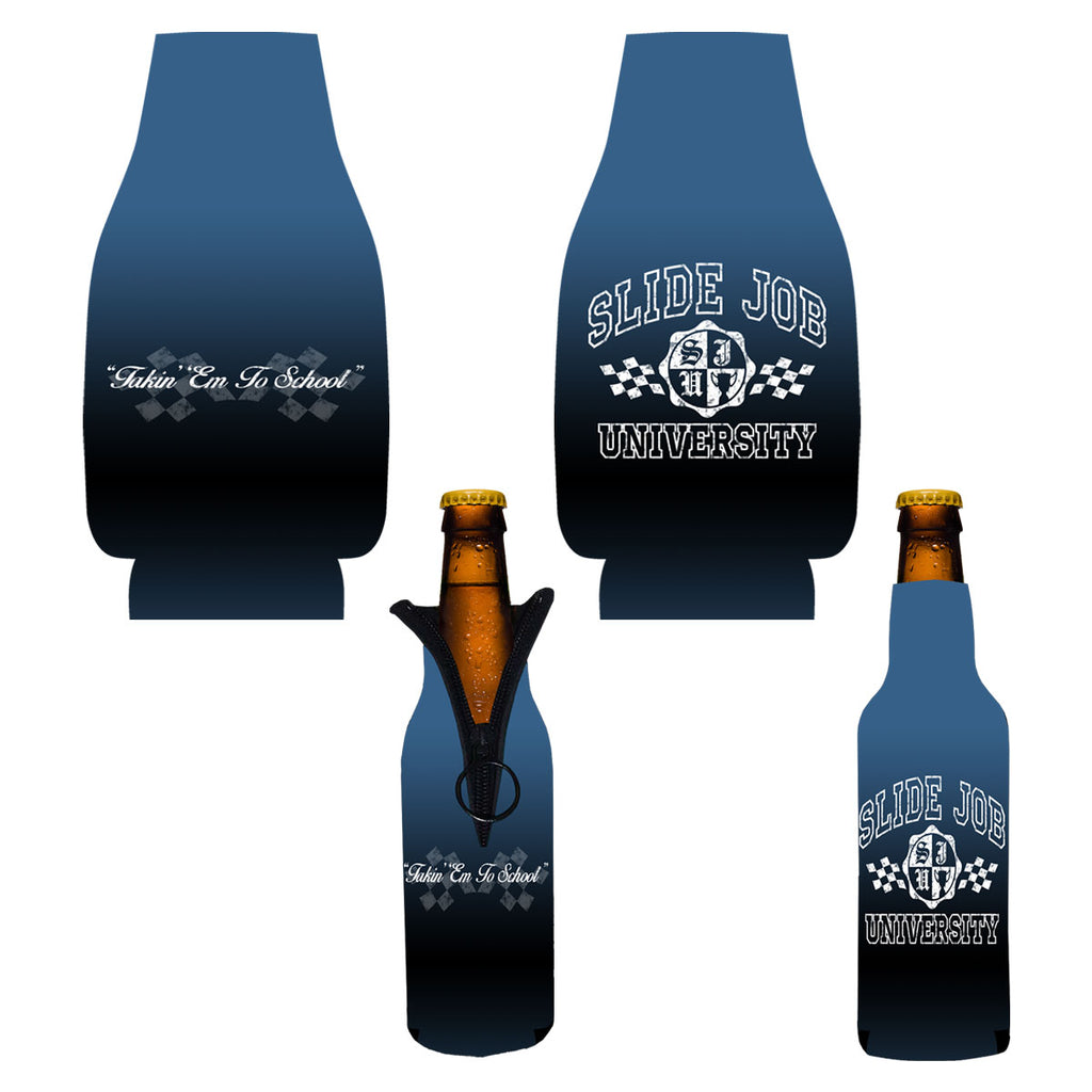 Slide Job University Bottle Coozie