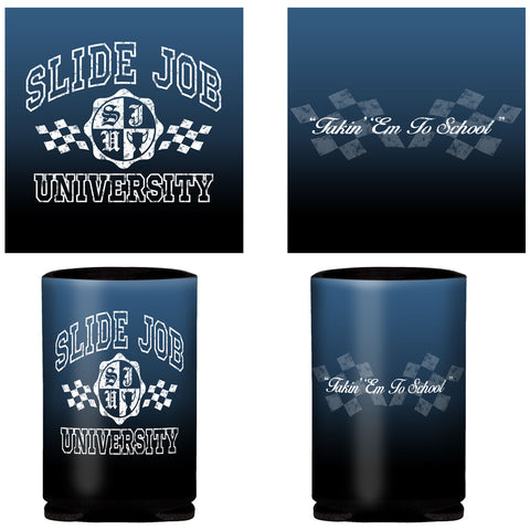 Slide Job University Can Coozie