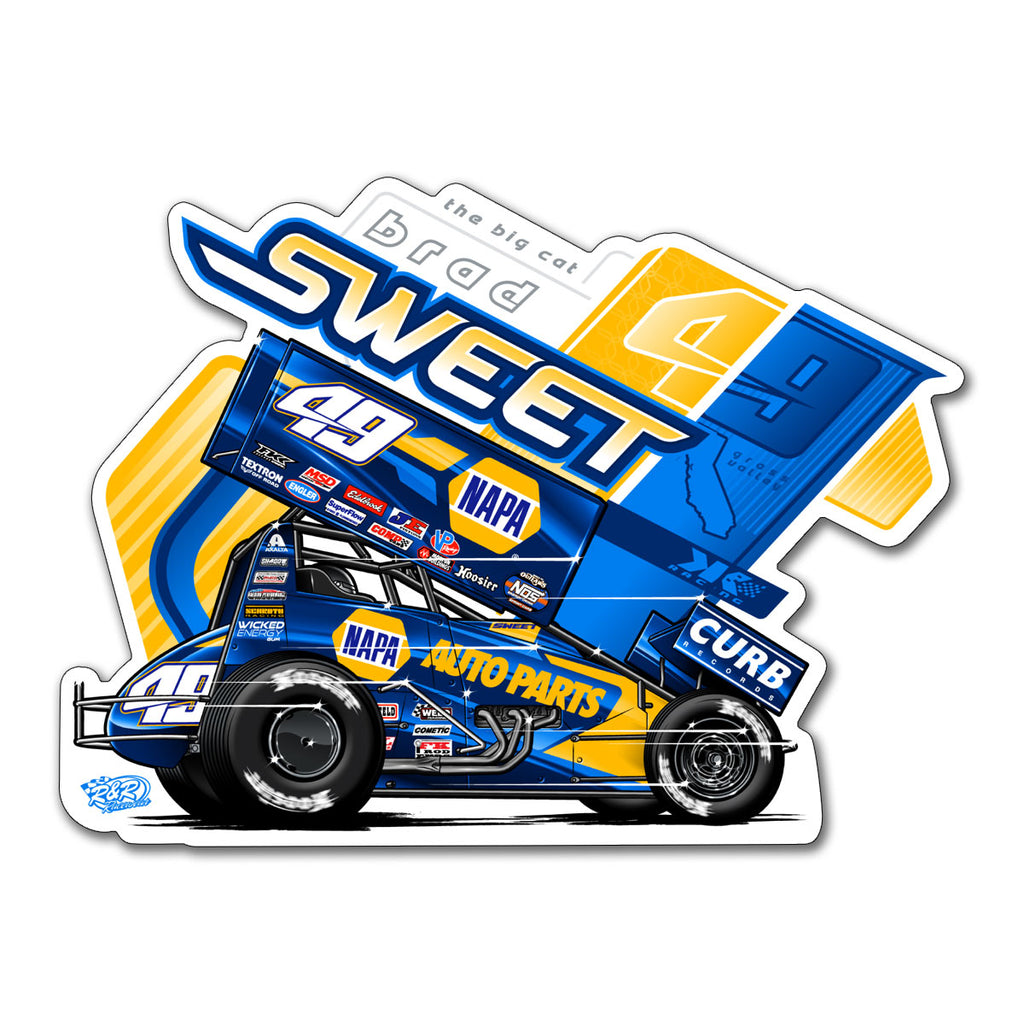 "Brad Sweet ""Straight Ahead"" Decal"