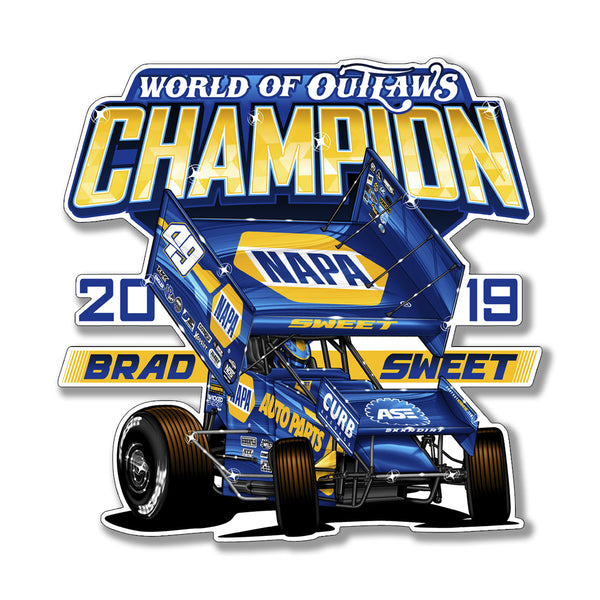 "Brad Sweet ""Champion"" Decal"