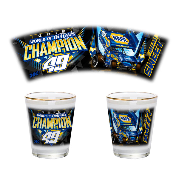 "Brad Sweet ""Champion"" Shot Glass"