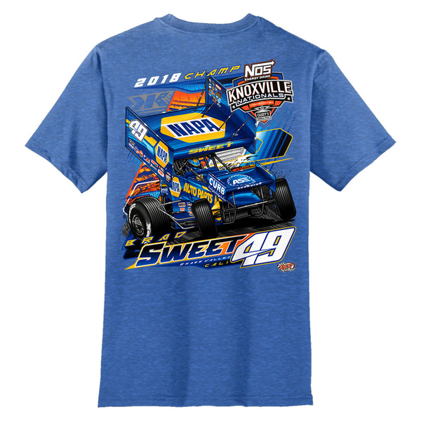Brad Sweet NAPA Sprint Car Royal Frost T-Shirt Back
