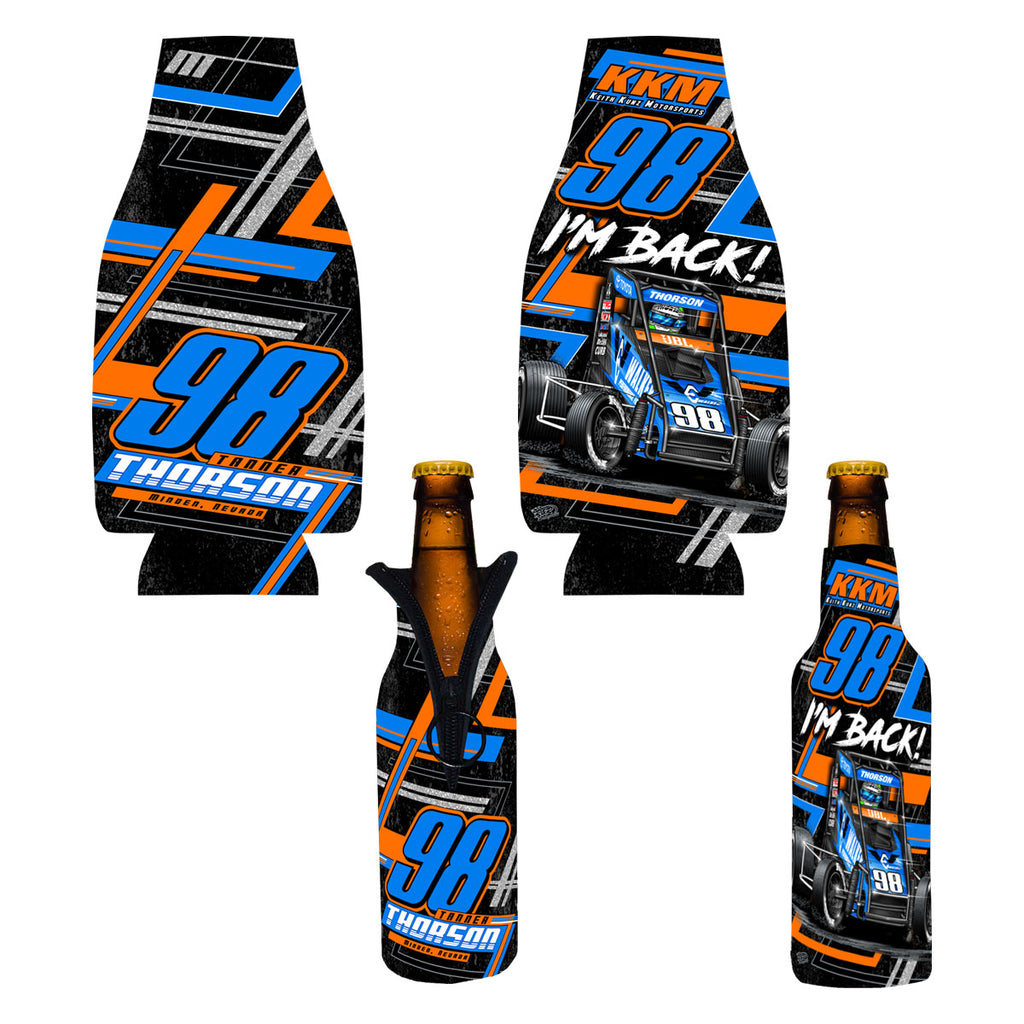 "Tanner Thorson ""Back on the Gas"" Bottle Coozie"