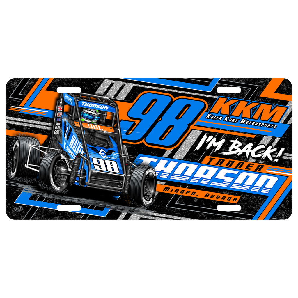 "Tanner Thorson ""Back on the Gas"" License Plate"