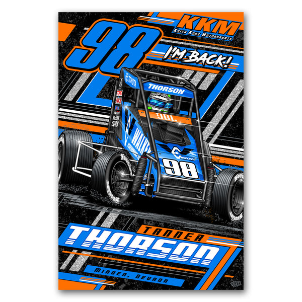 "Tanner Thorson ""Back on the Gas"" Poster"
