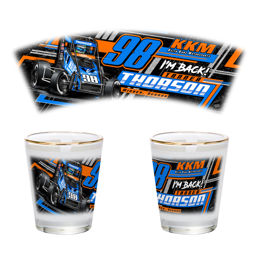 "Tanner Thorson ""Back on the Gas"" Shot Glass"