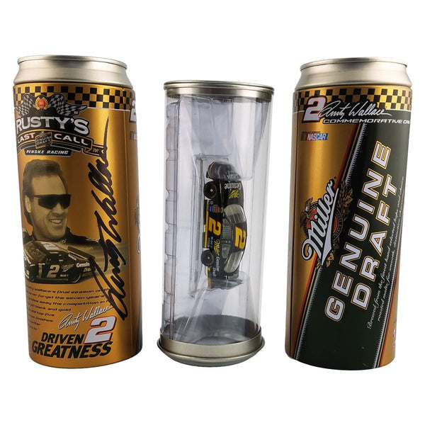 "Rusty Wallace ""Genuine Draft Beer Can"" Die Cast *Autographed"