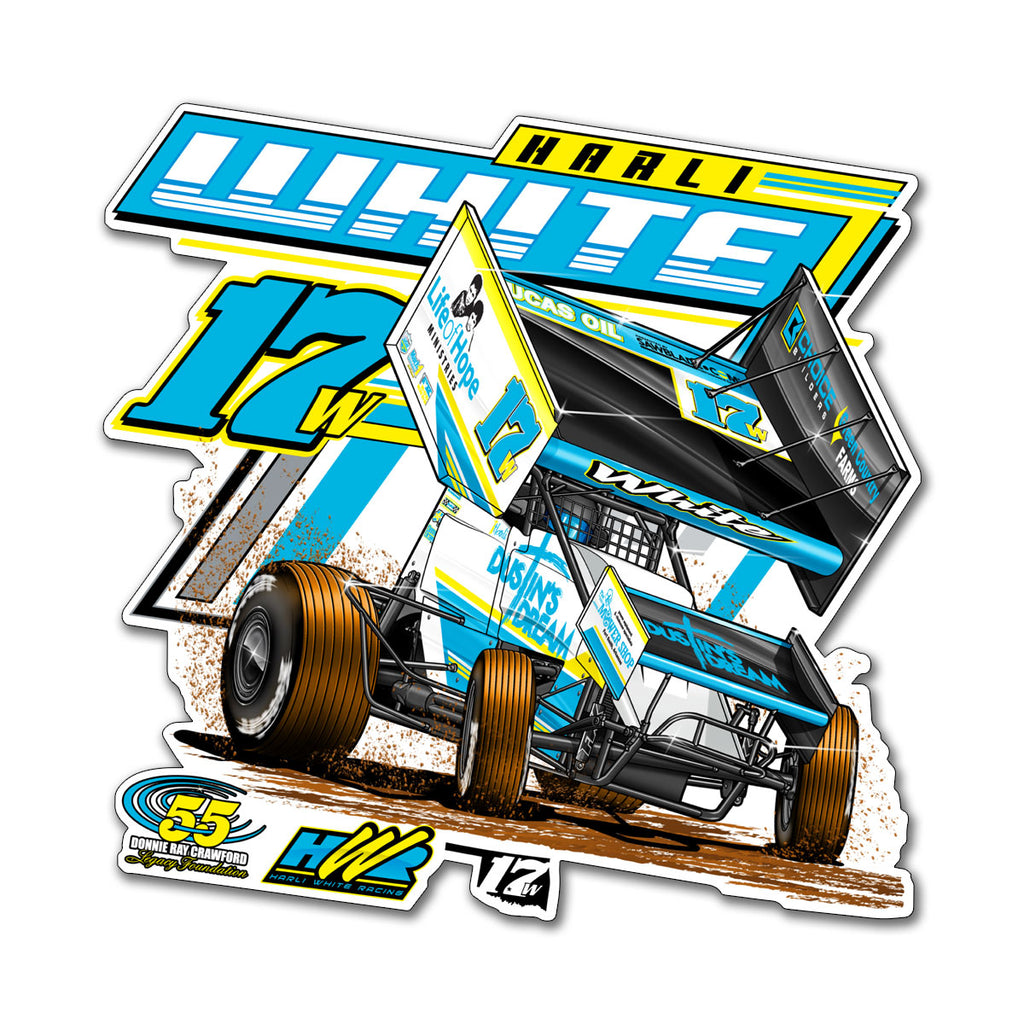 "Harli White ""Speed Dreamin'"" Decal"