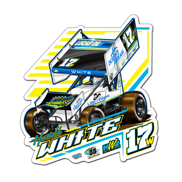 "Harli White ""Hoping for Victory"" Decal"