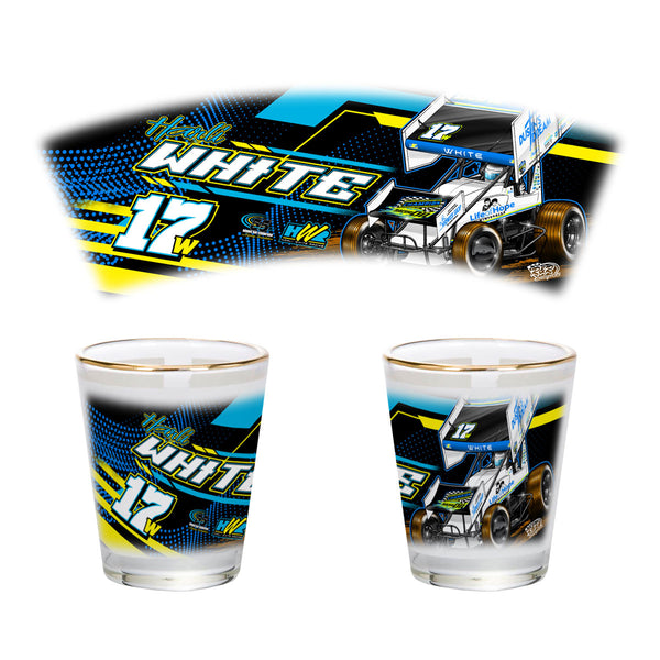 "Harli White ""Hoping for Victory"" Shot Glass"