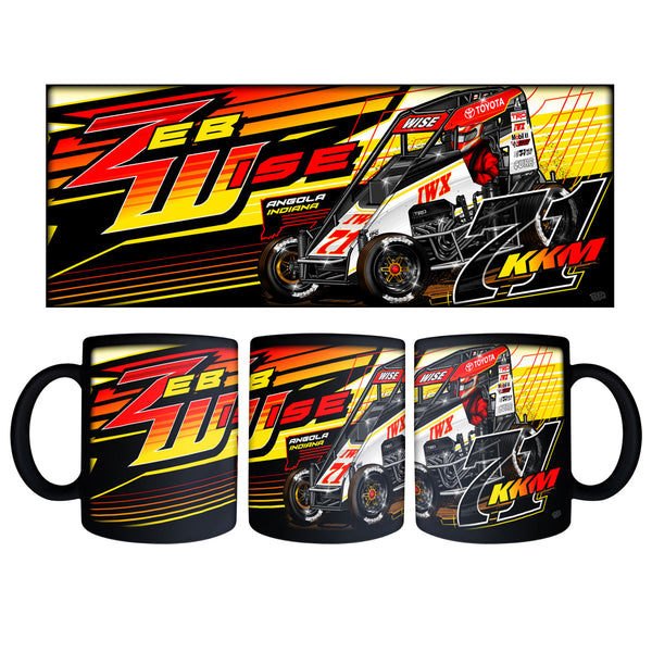 "Zeb Wise ""Making a Statement"" Black Mug"